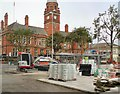 SJ9494 : Renewal work on Hyde Market continuing by Gerald England