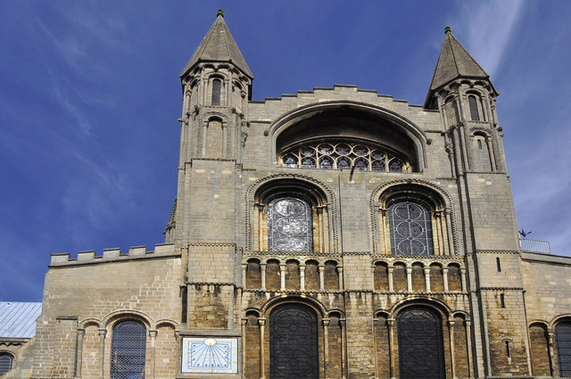 Turrets and windows above the South Door - Ely Cathedral