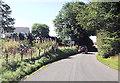 SN7368 : Approaching cross roads in Ffair Rhos by John Firth