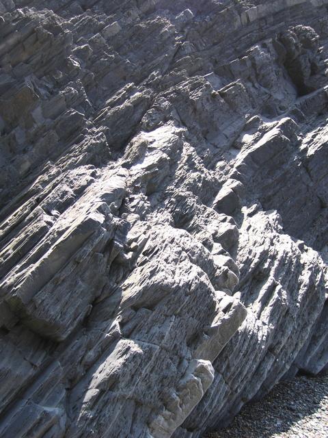 Aberystwyth Grits - fault across strata