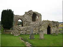 NJ0661 : Kinloss Abbey by don cload