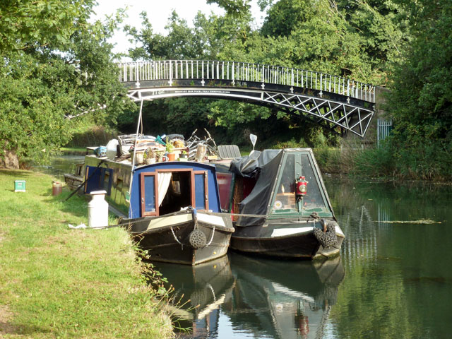 Boats and Gallows Bridge, Grand Union Canal by Robin Webster