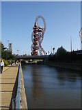 TQ3784 : River Lea path to the Orbit, Olympic Park by David Anstiss