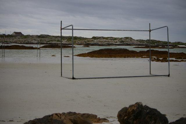Goalposts on beach