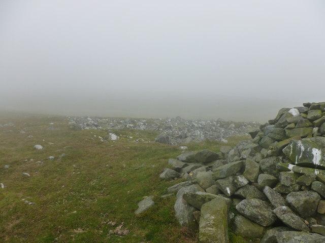 Hill fog on summit of Creagan na Beinne