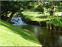 SK0573 : The Serpentine - part of Buxton's River Wye - in Pavilion Gardens by Ruth Sharville