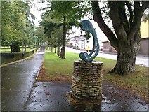 H4573 : Wishbone sculpture, Omagh (1) by Kenneth  Allen