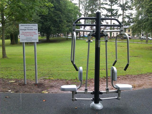 Fitness Equipment and notice, The Grange \u00a9 Kenneth Allen cc-by-sa\/2.0 :: Geograph Ireland