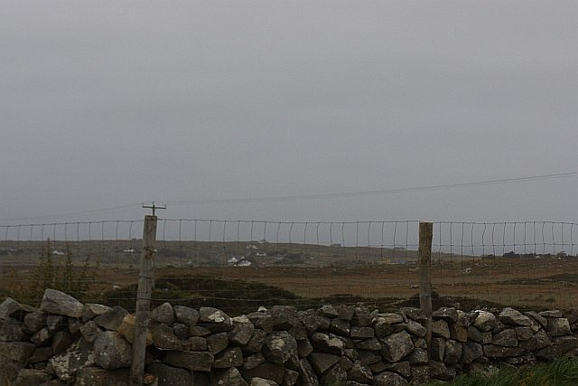 Stone wall with added height - Moyrus Townland
