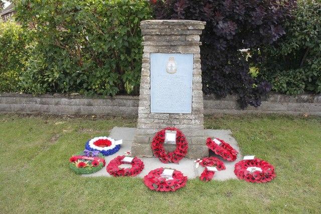 Wreaths round the Memorial