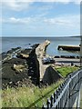 NO5116 : St Andrews - pier and harbour from ruin of St Mary's  by Rob Farrow