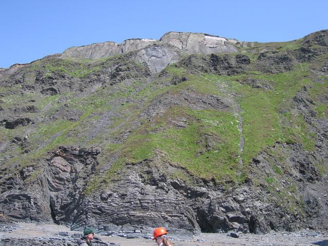 Aberystwyth grits - cliff strata