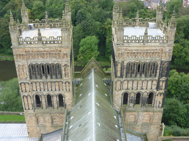 Durham Townscape : The Western Towers of Durham Cathedral