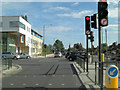 TQ1372 : B358 - Hospital Bridge Road junction by Stuart Logan