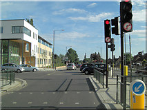 TQ1372 : B358 - Hospital Bridge Road junction by Stuart Logan