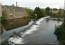 SE1039 : Weir above Ireland Bridge, Bingley by Humphrey Bolton