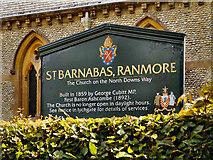 TQ1450 : St Barnabas, Ranmore by David Dixon