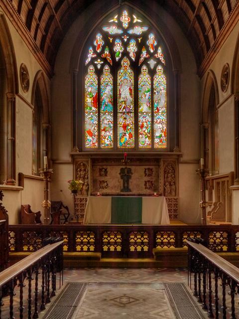 St Martin's Dorking, Chancel, Altar and East Window