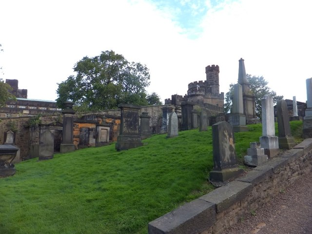 Monuments in Old Calton Cemetery