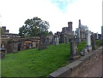 NT2674 : Monuments in Old Calton Cemetery by David Smith