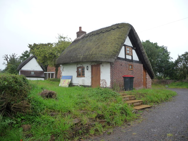 Small thatched cottage on Wellington Road near Church Aston