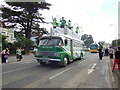 SU7072 : Old bus in Olympic torch relay on Castle Hill, Reading by Chris Wood