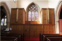 SK2572 : Organ, St Anne's church, Baslow by J.Hannan-Briggs