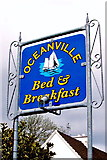 M2208 : The Burren - R477 - Ballyvaghan - Oceanville B&B Sign by Suzanne Mischyshyn