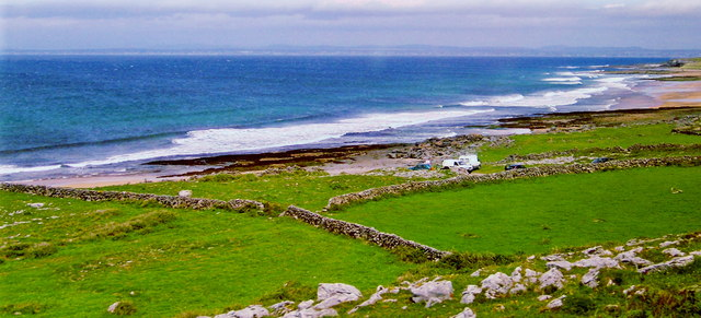 The Burren - R477 - Creggagh - Stone Walls, Fields, Ocean &, Beach