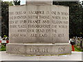 SJ7497 : Peel Green War Memorial (inscription) by David Dixon