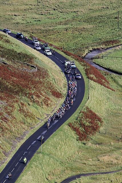 The 2012 Tour of Britain Cycle Race at Muchra