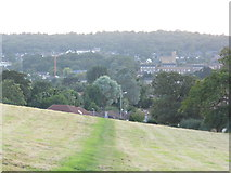TQ1293 : View across Carpenders Park from Merry Hill by David Howard