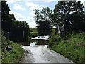 TL1763 : Ford and footbridge near Hail Weston by JThomas