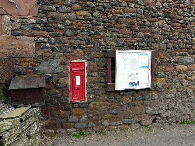 VR postbox and village noticeboard