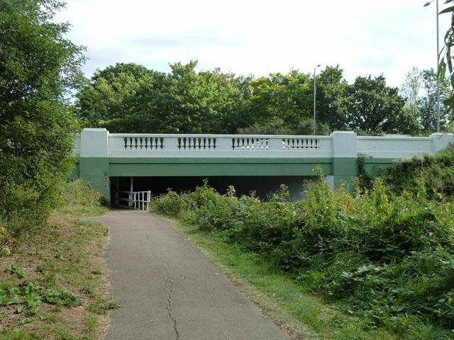 A316 bridge over River Crane
