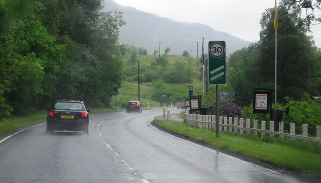 A85 passing Ben More Lodge