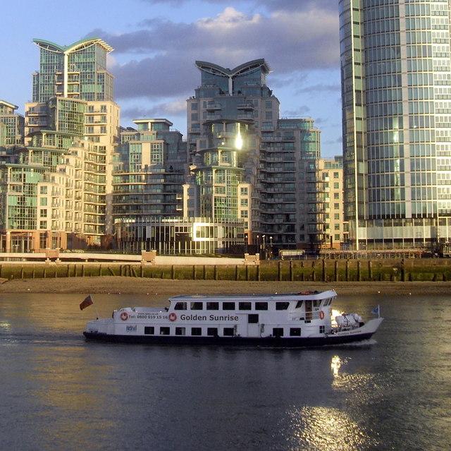 The Golden Sunrise on The River Thames