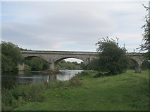 SE4843 : Disused railway bridge over the River Wharfe at Tadcaster by John Slater