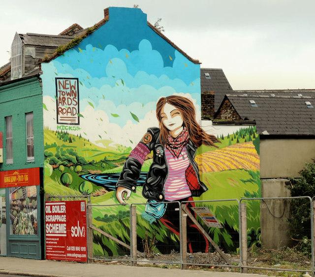 Disguising mural, Belfast