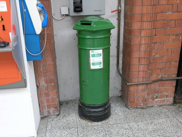 Early Victorian post box in Kent Station, Cork