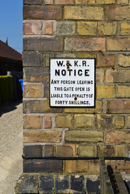 Old sign on the front wall of Broomfleet schoolhouse