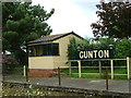 TG2535 : Old signal box at Gunton Station by Dave Fergusson