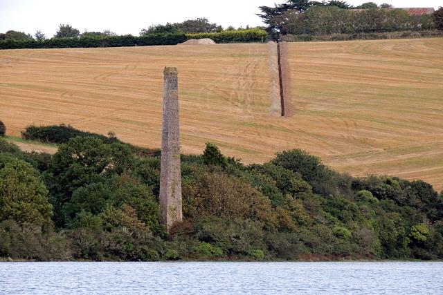 Chimney stack of the Trelonk Brickworks