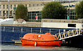 J3474 : Former ship's lifeboat, Belfast by Albert Bridge