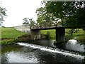 NU1714 : Monk's Bridge and weir  by Russel Wills