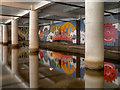 SJ8498 : Underground Mural, Rochdale Canal by David Dixon