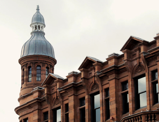 Turret and cupola, Ulster Reform Club, Belfast