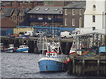 NZ3668 : Boat at Fish Quay by Colin Smith