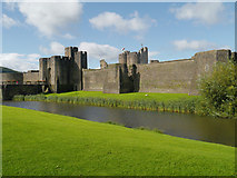 ST1587 : Caerphilly Castle, East Wall by David Dixon