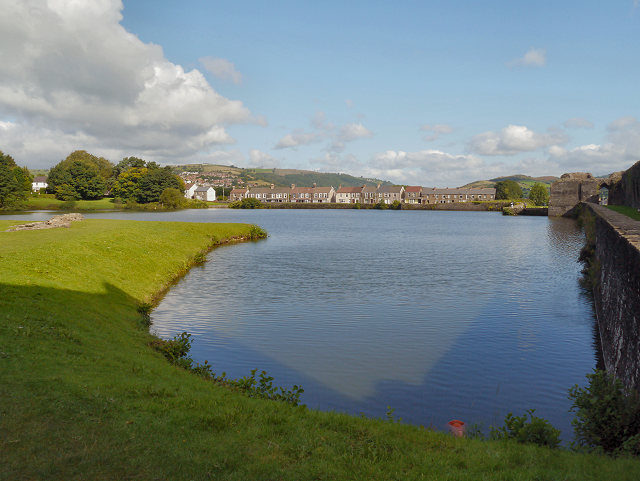 The North Lake, Caerphilly Castle